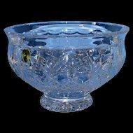 "Beautiful 8"" Waterford Crystal Killarney Bowl W/ Original Box"