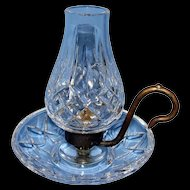 A Rare  Vintage Waterford Finger Lamp W/Globe
