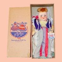 "All Original 13"" Mollye International Series ""Rumania"" Cloth Doll in Original Box!"
