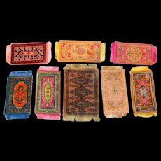 8 Antique & Vintage Oriental Dollhouse Rugs