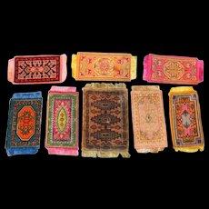8 Antique & Vintage Oriental Dollhouse Rugs