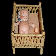 Small Antique German Baby's Bed (crib or playpen)