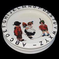 Sweet Antique German Children's ABC Bowl