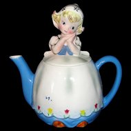 Adorable Vintage 1960's Lefton Dutch Girl Teapot - Beautiful!