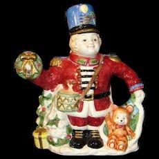 Vintage Large Fitz and Floyd Teapot: Christmas Nutcracker