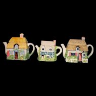 Vintage Country Cottage House Teapots - Country charm!