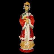 Tall Oriental Lady Figurine ca 1930s-40's