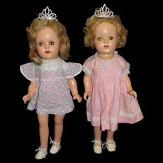 Two 1937 Madame Alexander Composition Princess Elizabeth Dolls