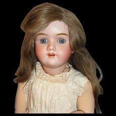 "Large Antique German Bisque Doll:  29"" Heinrich Handwerck Mold #99"