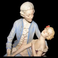 Vintage Benacchio Italian Porcelain Bisque Figurine - Stunning!