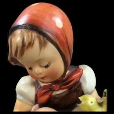 Chick Girl Hummel Figurine  #57/0 TMK 3 with Small Stylized Bee and Label