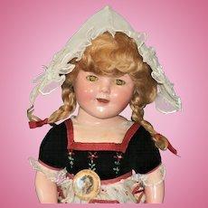Ultra Rare Shirley Temple Heidi Doll! Remarkable In Original Costume!