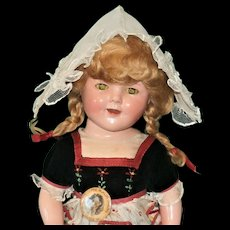 Ultra Rare Shirley Temple Heidi Doll! Remarkable In Original Costume!