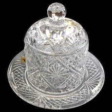 Exquisite Irish Crystal Waterford Society Samuel Miller Dessert Dome and Plate signed by Master Artisan Fred Curtis