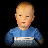 "14"" Early Kathe Kruse Doll X - Sweet!"