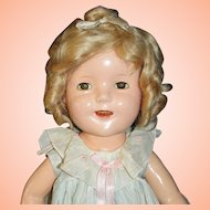 "20"" Shirley Temple Composition Doll by Ideal - First Year of Production, 1934"