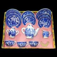 Vintage Blue Willow China Childrens Tea set in Original package!  Little Duchess Brand