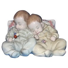 "Vintage Retired LLADRO 'Little Dreamers"" Napping Twin Babies Mint in Box!"