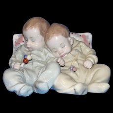 """Vintage Retired LLADRO 'Little Dreamers"""" Napping Twin Babies Mint in Box!"""