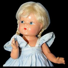 Adorable 1940's Composition Vogue Toddles Doll
