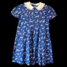 1930's  Shirley Temple Brand Cinderella Frock Girls Dress