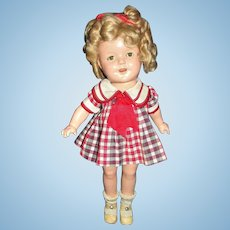 Ideal Shirley Temple Composition Doll with 2 Original Dresses! Excellent condition!