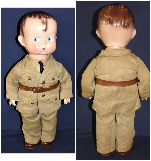 Jan Hagara Figurines For Sale: All Original 1930's Effanbee Military Skippy Doll