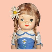 Rare 1948 Composition Eugenia Doll from the Personality Playmate Series