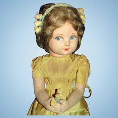 """Vintage 1930's Cloth Norah Wellings Character Doll """"Norene"""" as a Young Princess Elizabeth"""