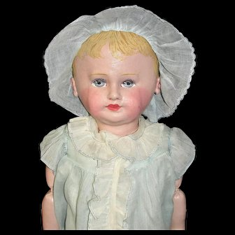 """Outstanding Vintage 21"""" Martha Chase Hospital Doll  Pristine Paint!"""
