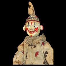 Antique Schoenhut Clown+ furniture from the Humpty Dumpty's Circus  - NICE!