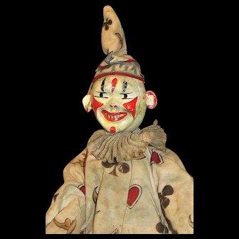 Antique Schoenhut Clown+ furniture from the Humpty Dumpty's Circus  - NICE!