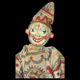 An Antique Schoenhut Clown From The Humpty Dumpty Circus plus original Ladder and Chair