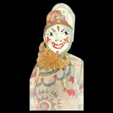 An Antique Schoenhut Clown From The Humpty Dumpty Circus plus original Ladder and Chair