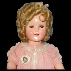 "ULTRA RARE Lucky Penny Dress & Fab 18"" Make-up Shirley Temple Doll from 1939!"