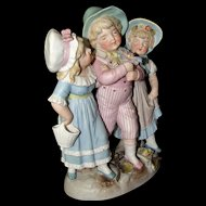 Antique Bisque Rare Conta & Boehme Children Figurine Girls and Boys