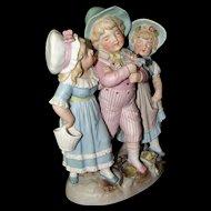 Antique Bisque Rare Conta & Boehme Children Figurine Girls and Boys