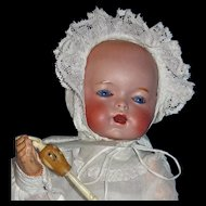 RARE French Bisque Doll, Adorable! Character Bebe /Baby - SFBJ/Unis - Model 271 Amazing Eyes!