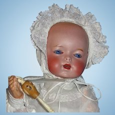 RARE French Bisque Doll, Adorable! Character Bébé / Baby - SFBJ/Unis - Model 271 Amazing Eyes!