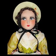"""A Lovely all Original 19"""" French Salon Cloth Doll"""