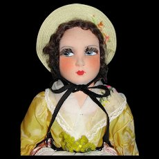 "A Lovely all Original 19"" French Salon Cloth Doll"
