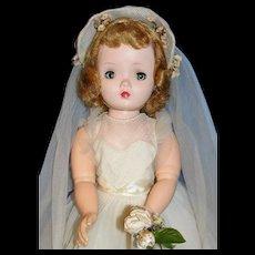"17"" Madame Alexander Cissy face Binnie/Winnie Bride Doll ca 1950's - Gorgeous!"