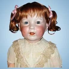 "Life-size Antique 28"" S.F.B.J. Bisque Toddler Doll mold #251 - Adorable!"