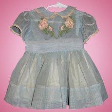 Original 1959 Aqua Party Dress for Shirley Temple Playpal Doll
