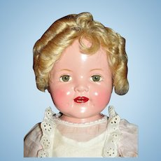 """Fabulous 18"""" Baby Shirley Temple ca 1936 in Original Costume and shoes plus extras"""