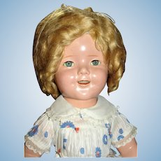 1930's Composition Reliable Shirley Temple Doll in Rare Tagged Dress