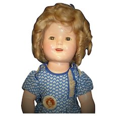 """RARE Original Costume on Amazing Shirley Temple Doll: 18"""" All Original 1st year issue Prototype!"""