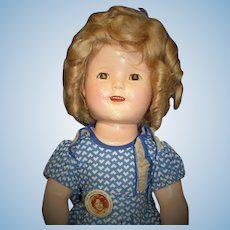 "RARE Original Costume on Amazing Shirley Temple Doll: 18"" All Original 1st year issue Prototype!"