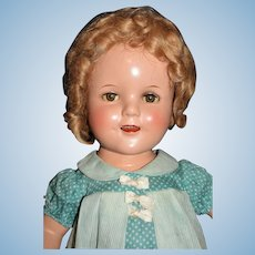 "Superb 17"" Shirley Temple Doll in Rare, Gorgeous Aqua Captain January Dress and Playsuit set!"