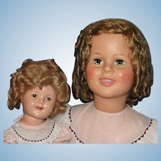 "36"" Playpal Shirley Temple Doll & 1930's Shirley Compo Doll with matching dresses: Mommy & Me - Must See!"